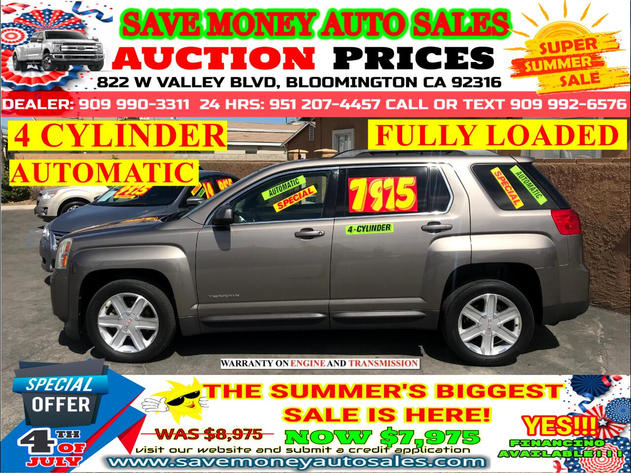 2010 GMC Terrain FULLY LOADED> 4 CYLINDER> EXTRA CLEAN