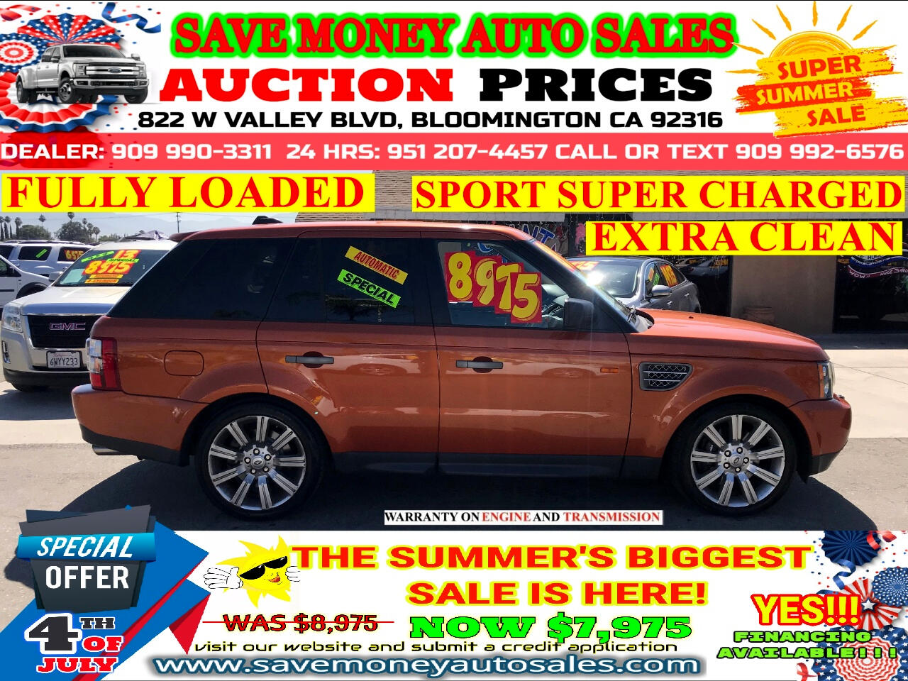 2006 Land Rover Range Rover Sport SUPERCHARGED> FULLY LOADED> LOW MILES> EXTRA CLEAN