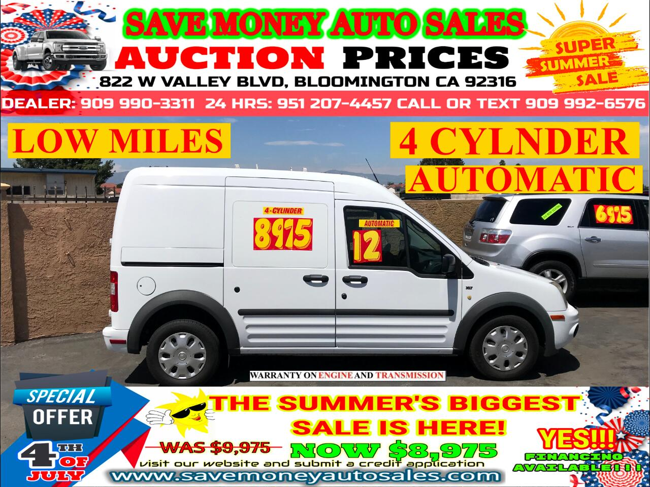 2012 Ford Transit Connect LOW MILES> 4 CYLINDER>AUTOMATIC