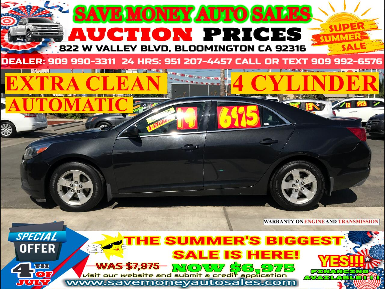 2014 Chevrolet Malibu LS> EXTRA CLEAN> 4 CYLDS > AUTOMATIC