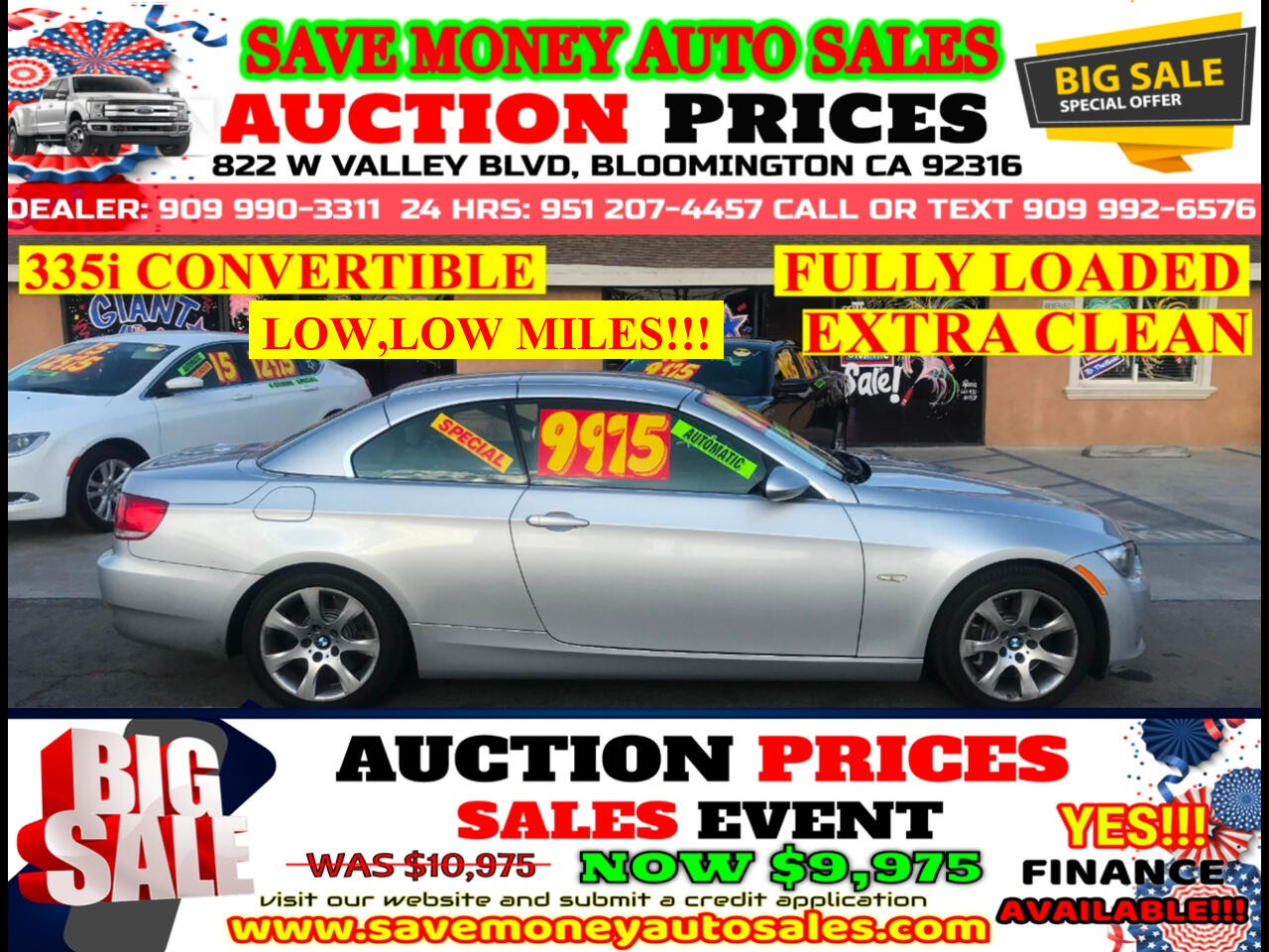 2007 BMW 3-Series 335i CONVERTIBLE> AUTOMATIC> EXTRA CLEAN> LOADED