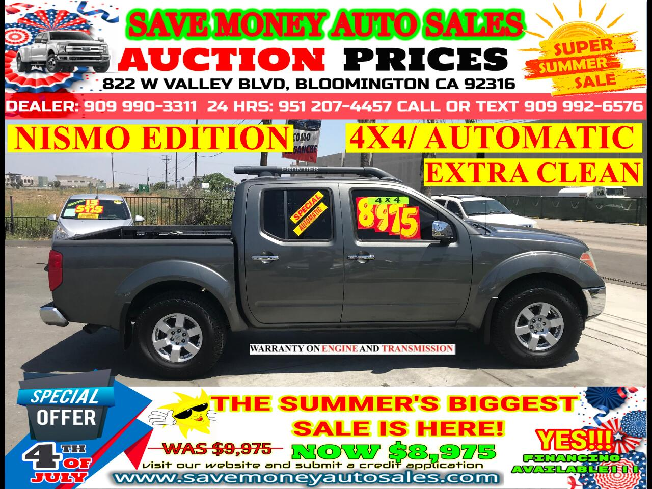 2007 Nissan Frontier 4X4> NISMO EDITION> EXTRA CLEAN> SUN ROOF> LOADED