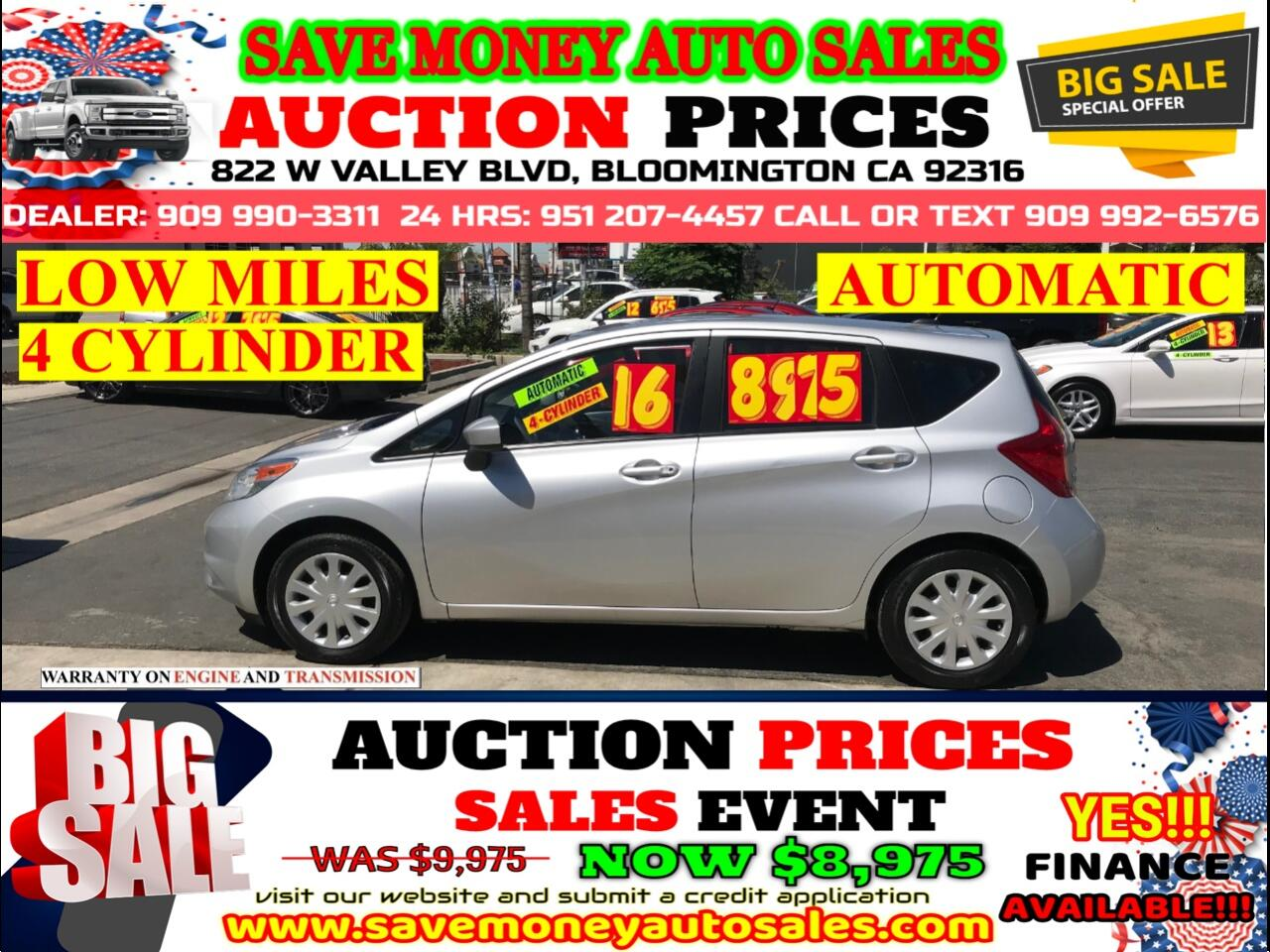2016 Nissan Versa Note SV> 4 CYLINDER> LOW MILES> EXTRA CLEAN>