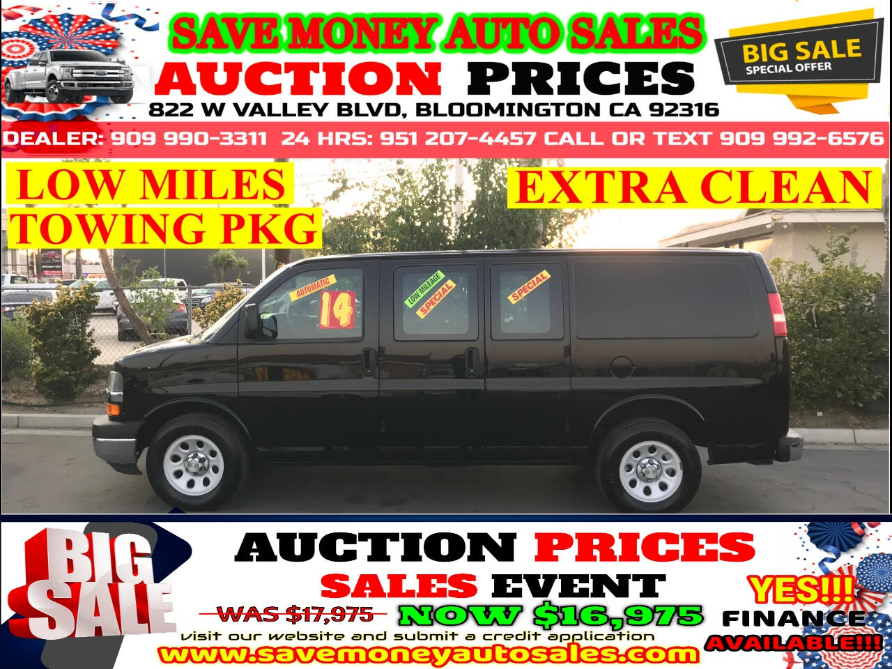 2014 Chevrolet Express 1500 CARGO> 48K LOW MILES> EXTRA CLEAN>AUTOMATIC