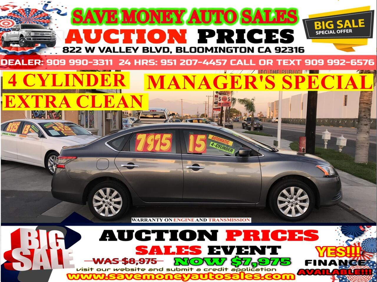 2015 Nissan Sentra 4 CYLINDER> EXTRA CLEAN> AUTOMATIC>