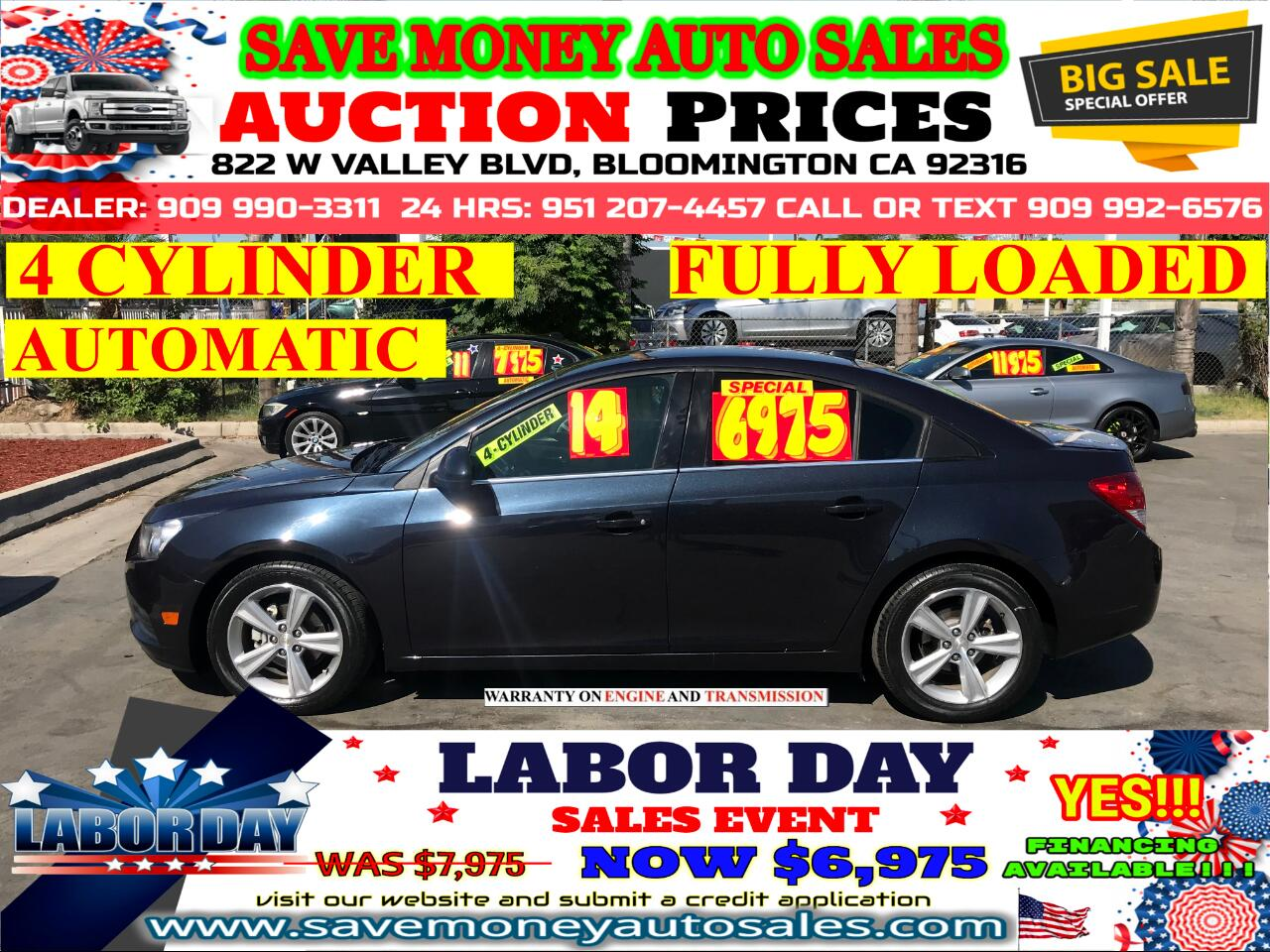 2014 Chevrolet Cruze LT> 4 CYLINDER> EXTRA CLEAN> LOW MILES
