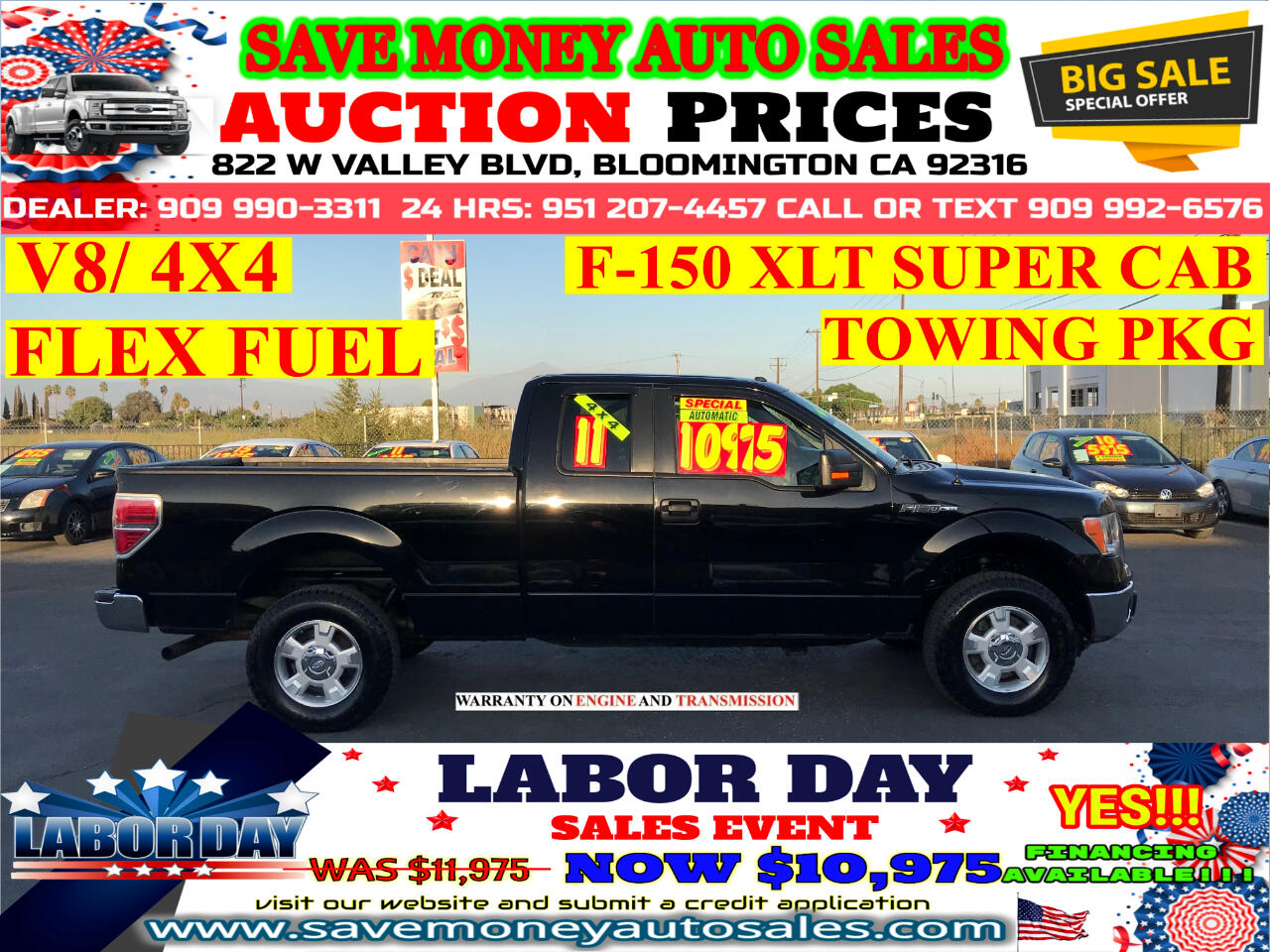 2011 Ford F-150 XLT SUPERCAB 4WD> EXTRA CLEAN> AUTOMATIC> FLEX FUE