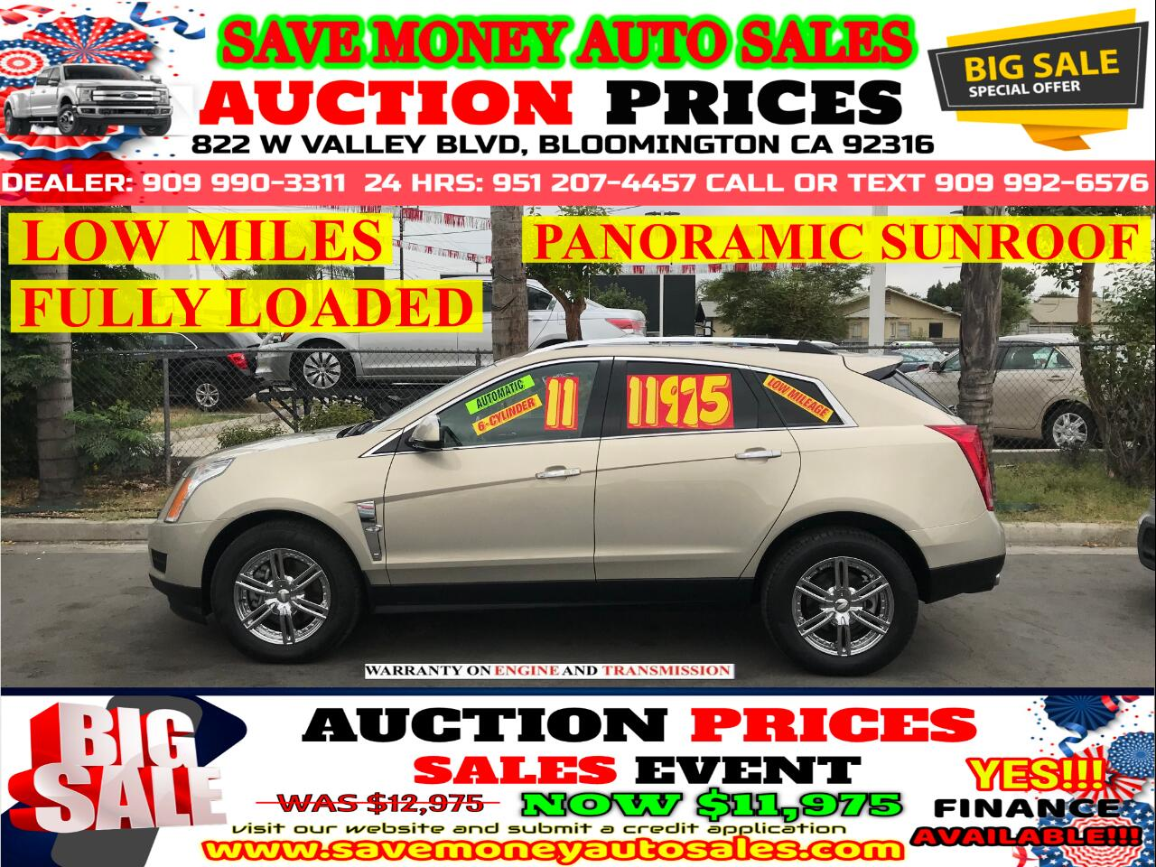 2011 Cadillac SRX LUXURY> 6 CYLINDER> LOW MILES> FULLY LOADED