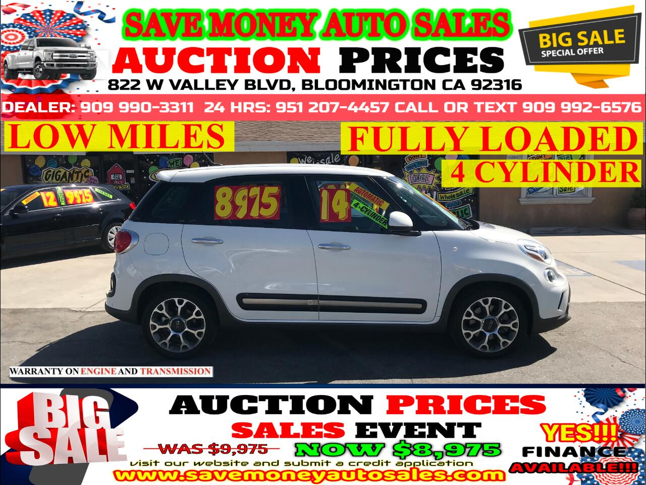 2014 Fiat 500L 4 CYLINDER> LOW MILES> EXTRA CLEAN> FULLY LOADED
