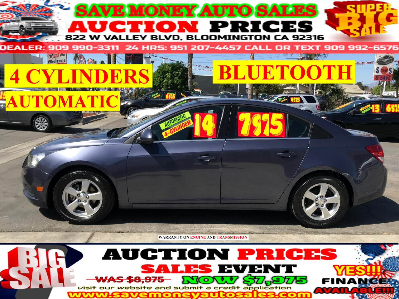 2014 Chevrolet Cruze ECO>4CYLDS>AUTO>LOW MILES>>GREAT BUY!!!!