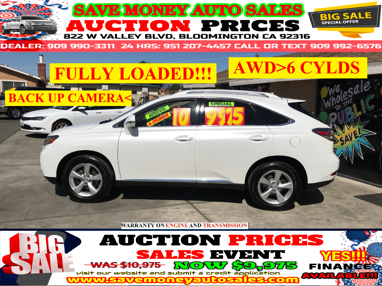 2010 Lexus RX 350 AWD> 6 CYLINDER> LEATHER> SUN ROOF> AUTOMATIC