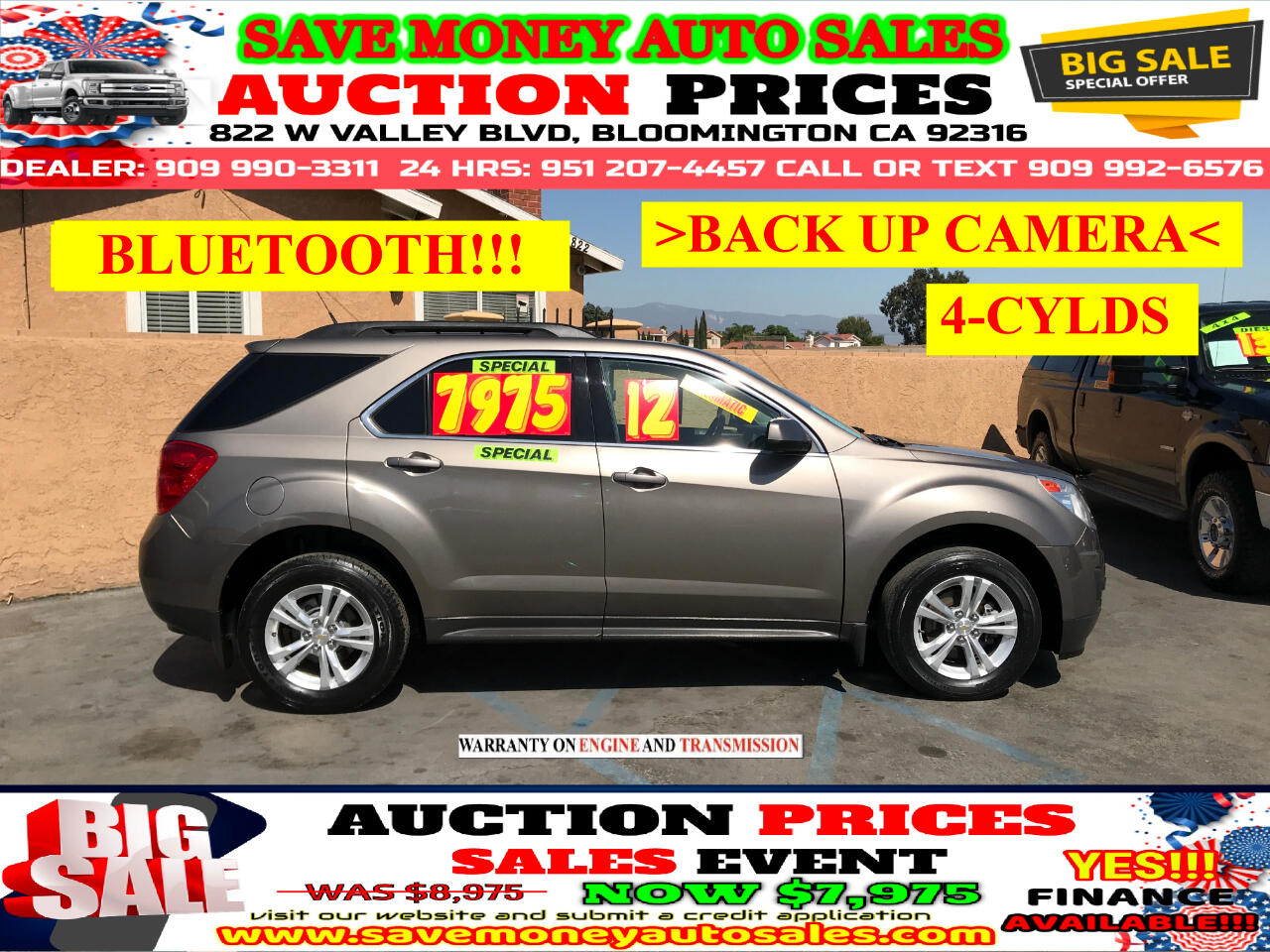 2012 Chevrolet Equinox LT>4CYLDS>PLUS BLUETOOTH,BACK UP CAMERA AND MORE!!