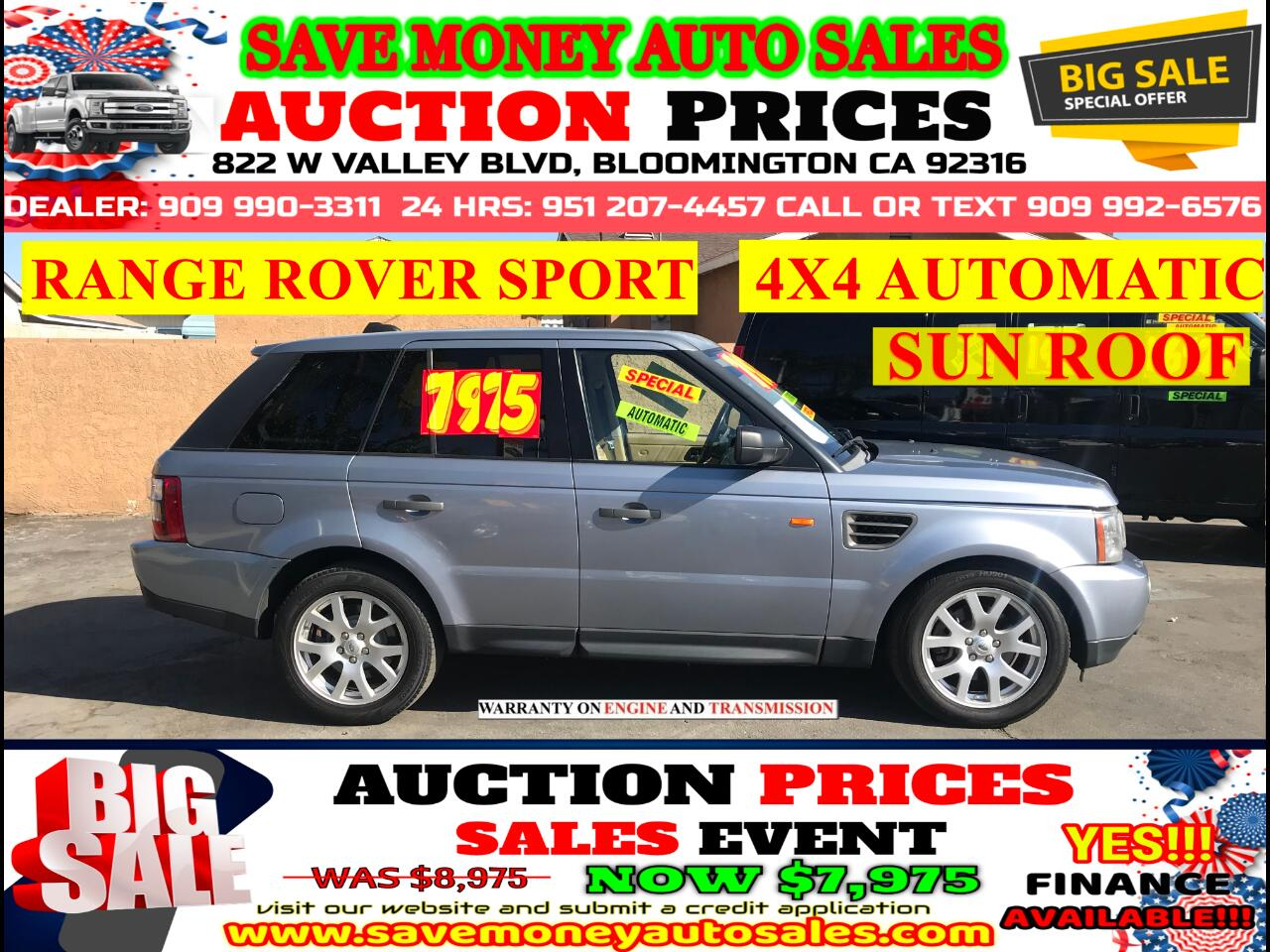2008 Land Rover Range Rover Sport HSE> AUTOMATIC> SUN ROOF> FULLY LOADED
