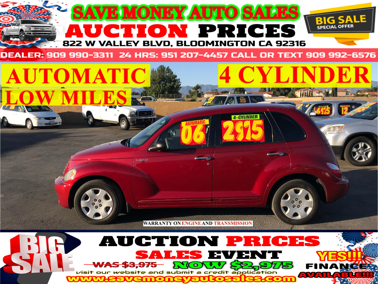 2006 Chrysler PT Cruiser TOURING EDITION> 4CYLDS> EXTRA CLEAN> AUTOMATIC