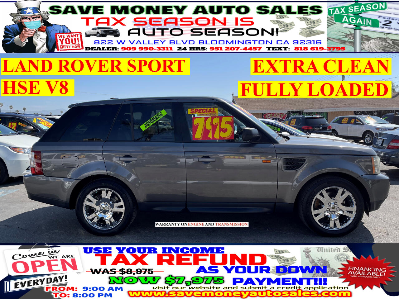 Used Land Rover Range Rover Sport Bloomington Ca