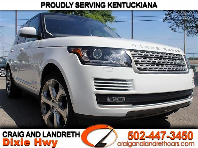 Land Rover Louisville >> Used 2017 Land Rover Range Rover Supercharged For Sale In Louisville