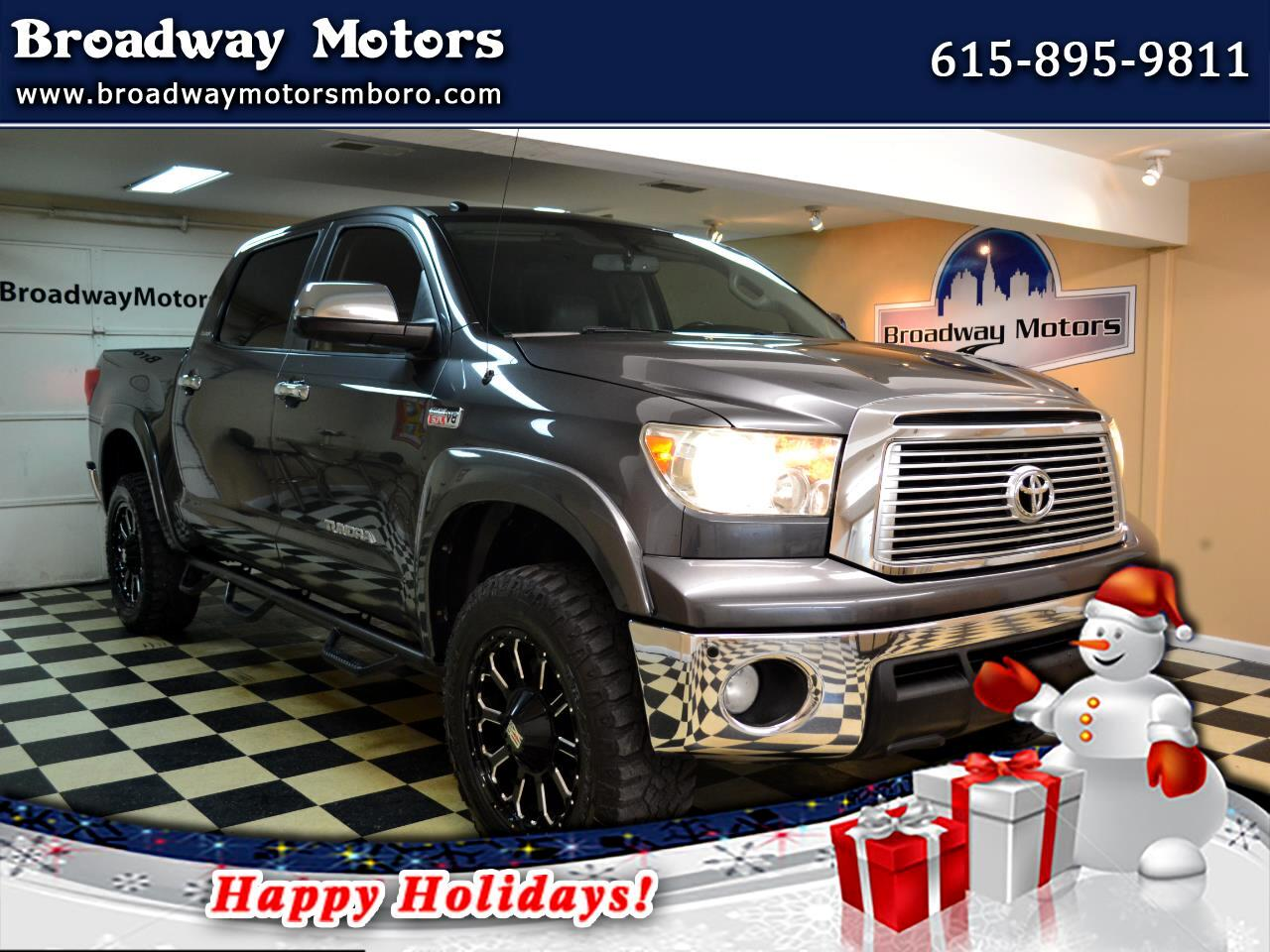 Toyota Tundra 4WD Truck CrewMax 5.7L FFV V8 6-Spd AT LTD (Natl) 2011