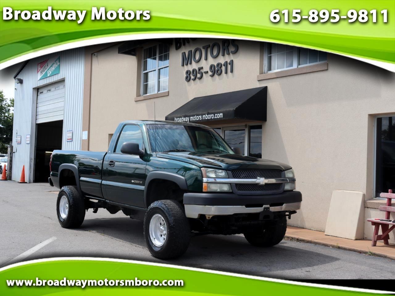 """Chevrolet Silverado 2500HD Reg Cab 133"""" WB 4WD Work Truck 2003"""