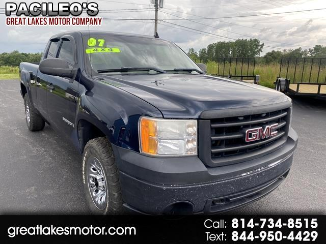 "GMC Sierra 1500 4WD Ext Cab 143.5"" Work Truck 2007"