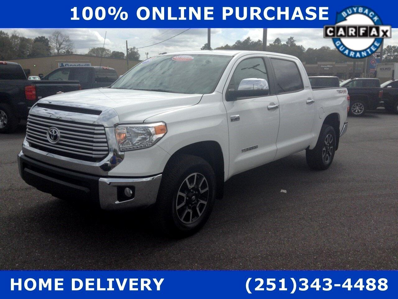 Toyota Tundra 4WD Truck CrewMax 5.7L FFV V8 6-Spd AT LTD (Natl) 2016