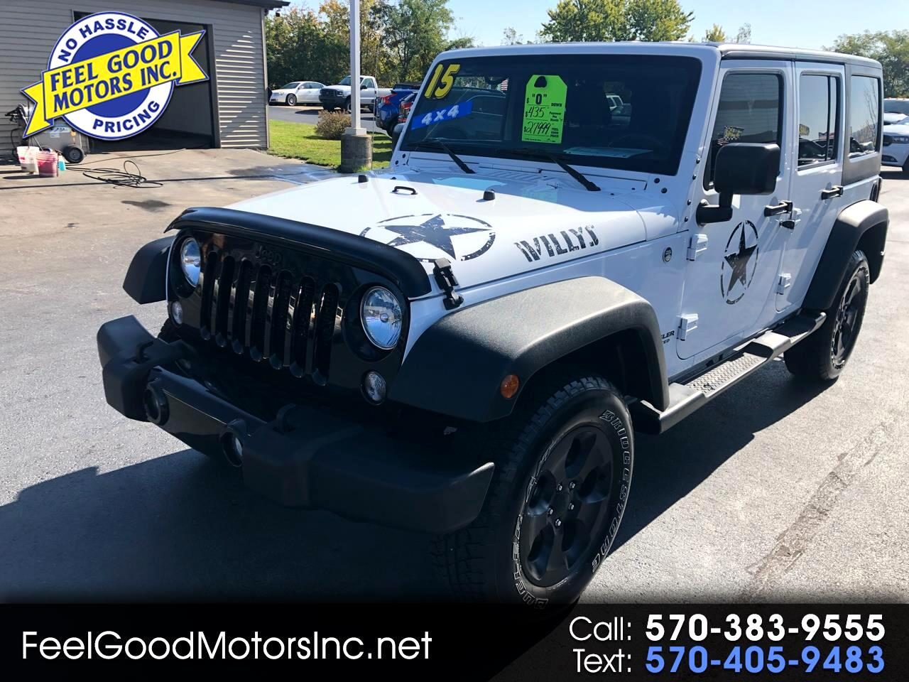 Jeep Wrangler Willys Wheeler 4x4 2015