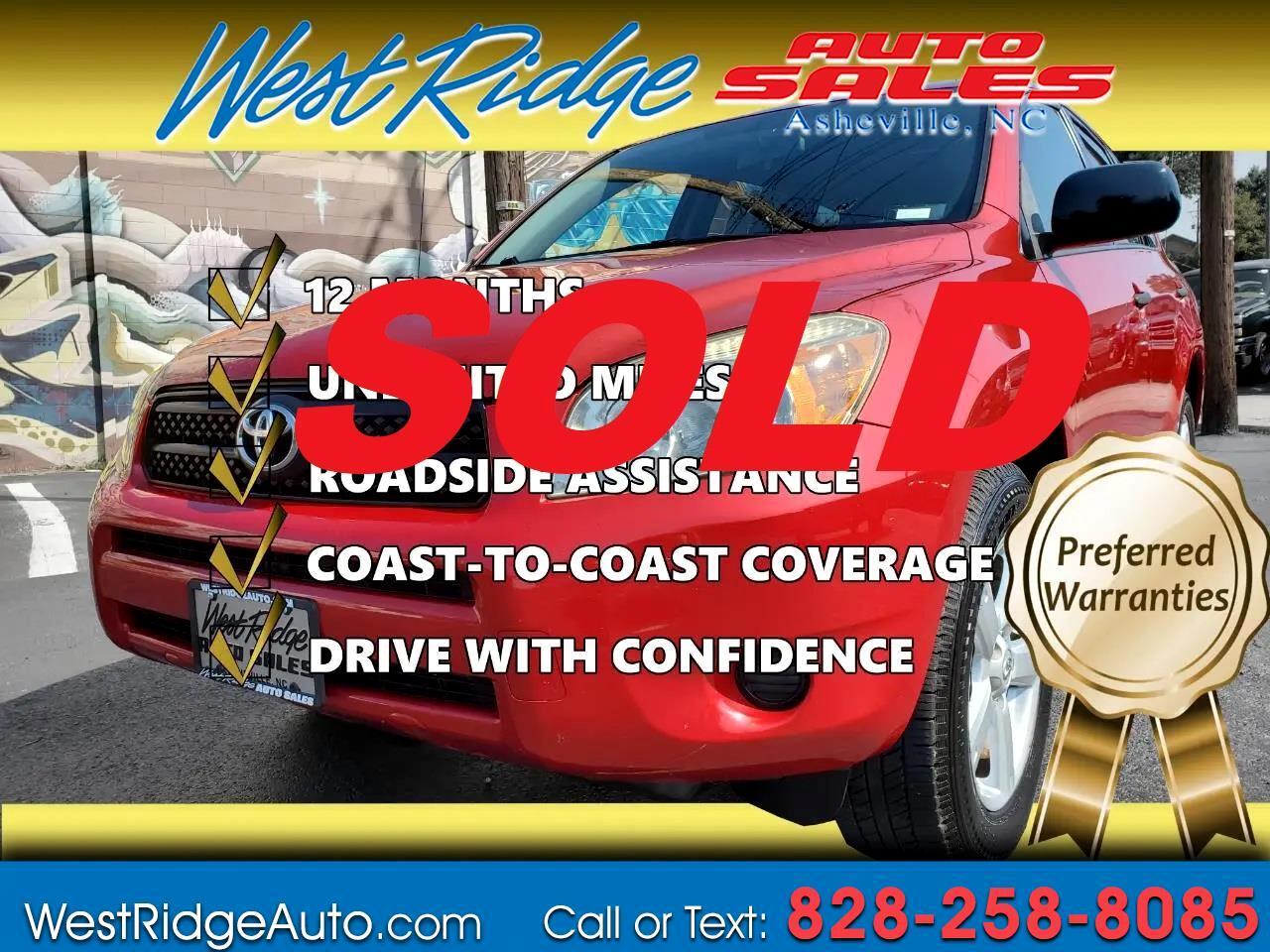 Toyota RAV4 Base I4 4WD 2008