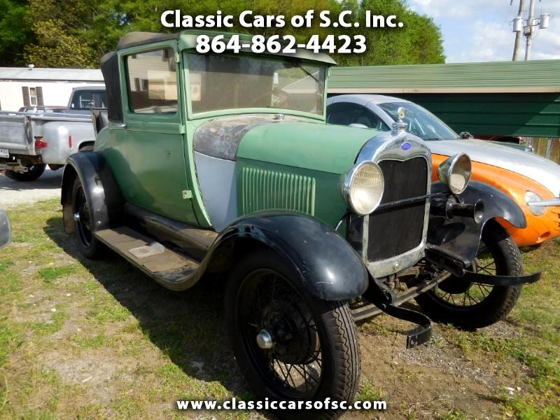 1928 Ford Model A Blind quarter Business Coupe