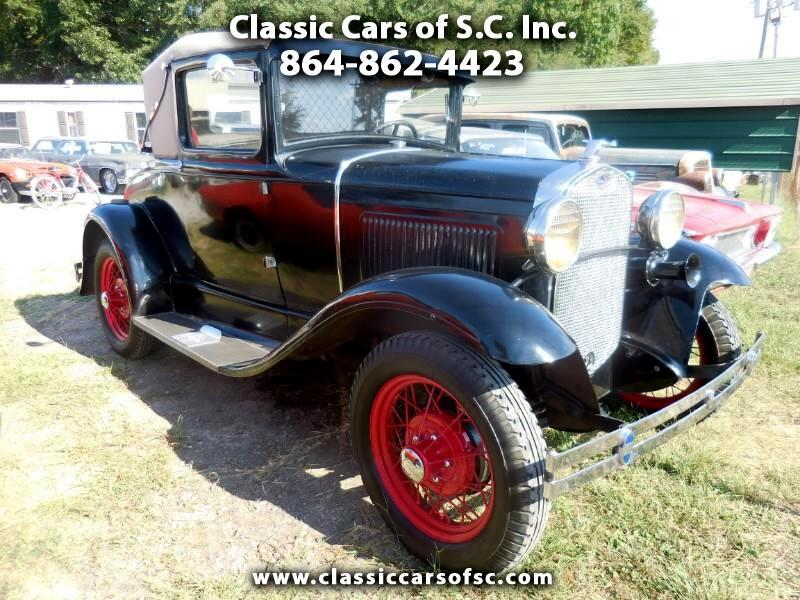 1930 Ford Model A Sport Coupe, Looks like a convertible but the top