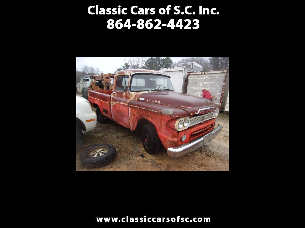 Dodge 1/2 Ton Trucks  1959