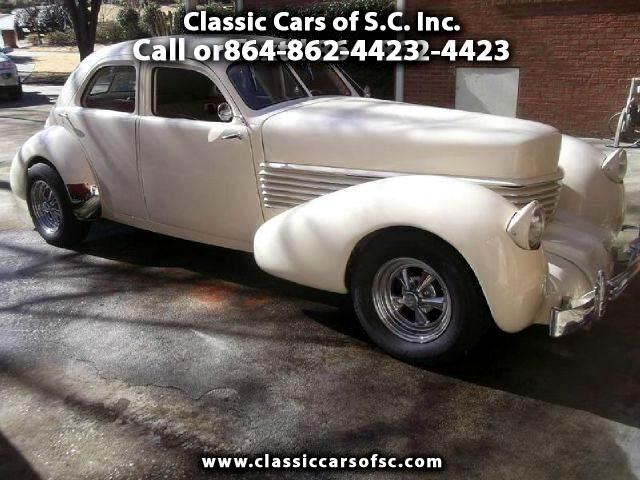 1937 Cord Coffin Nose Speedster Beverly Bussel Back Sedan