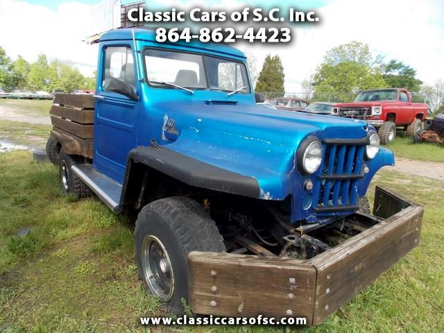 1955 Jeep Willys Wooden Flat Bed