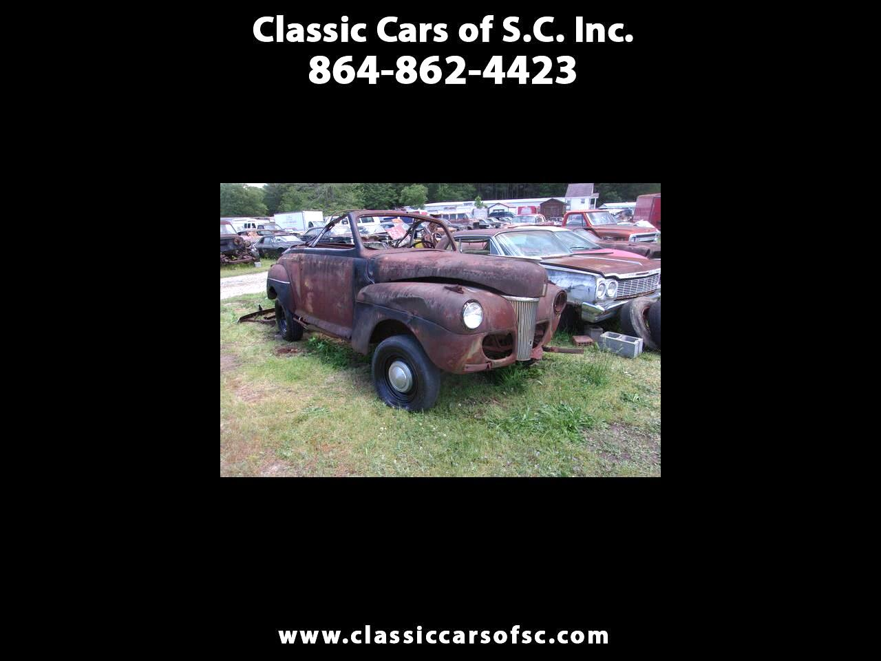 Used 1941 Ford Convertible For Sale In Gray Court Sc 29645 Classic Cars Of S C Inc