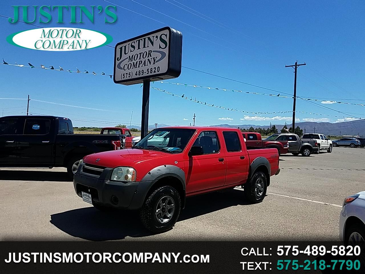 2002 Nissan Frontier 4WD XE Crew Cab V6 Manual Std Bed