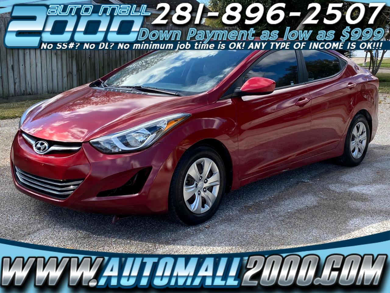 Hyundai Elantra SE 6AT 2016