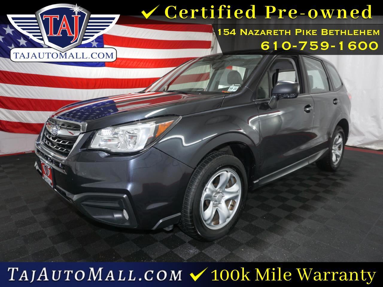 Subaru Warranty 2017 >> Used 2017 Subaru Forester 2 5i For Sale In Bethlehem Pa