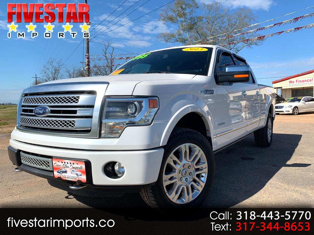 "2013 Ford F-150 4WD SuperCrew 145"" Platinum"