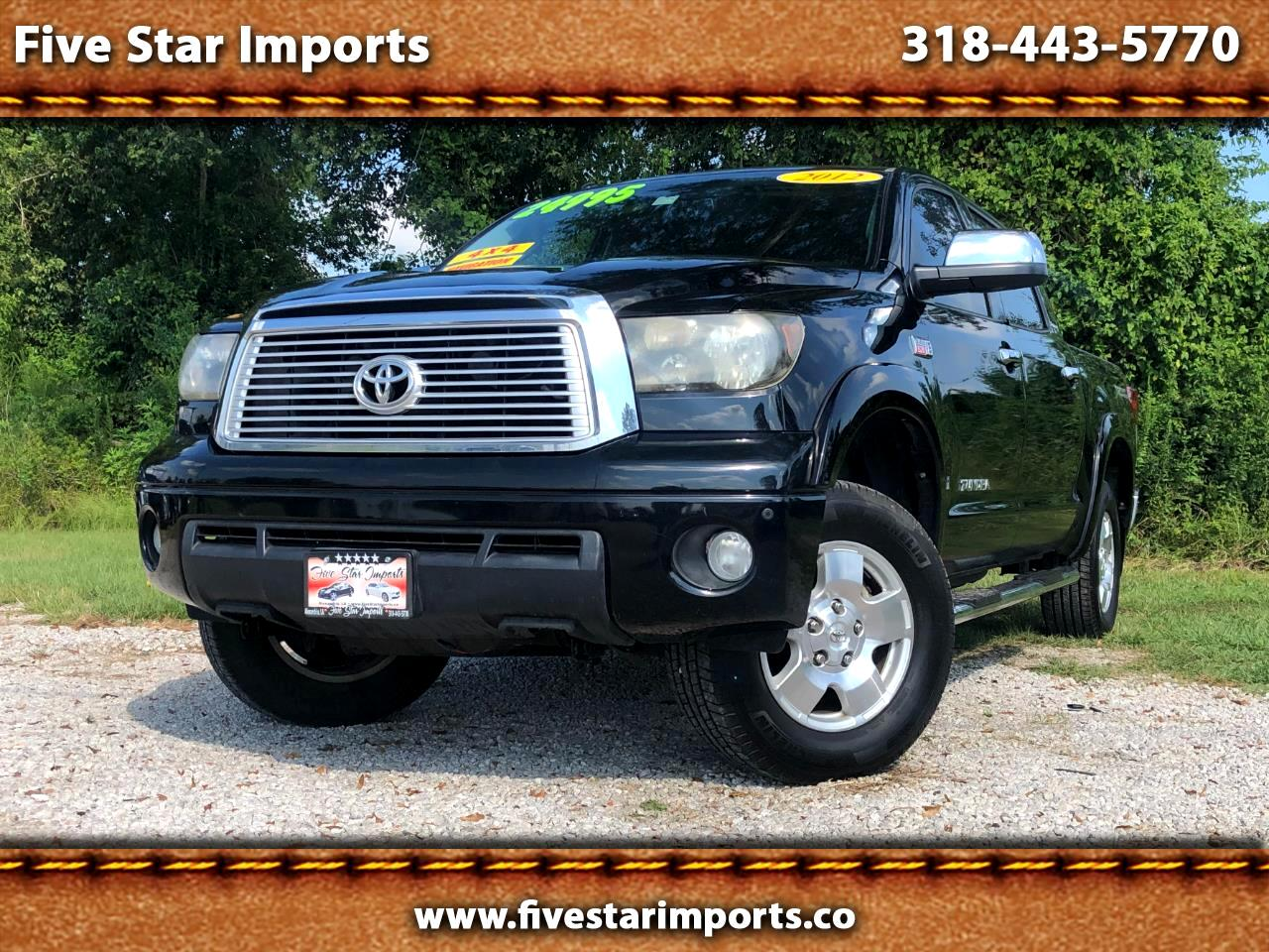 Toyota Tundra 4WD Truck CrewMax 4.6L V8 6-Spd AT (Natl) 2012