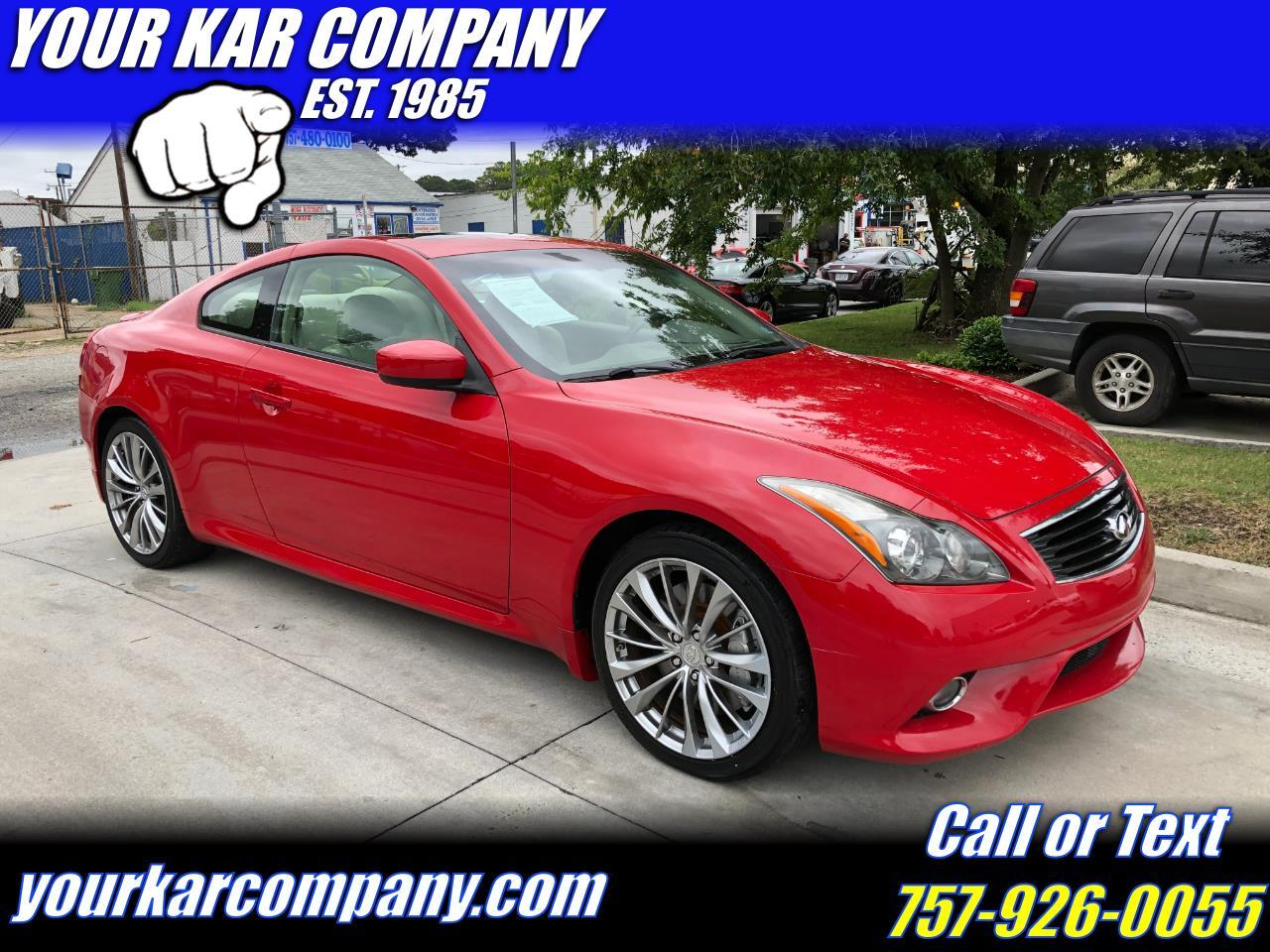2012 Infiniti G37 Coupe 2dr Sport 6MT RWD