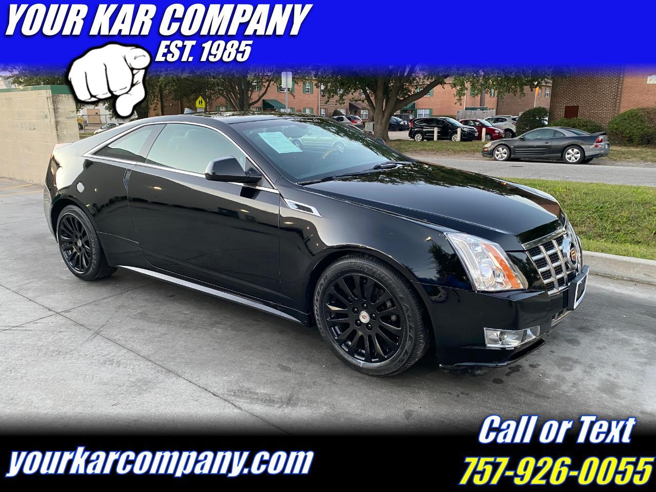 Cadillac CTS Coupe 2dr Cpe Premium AWD 2014