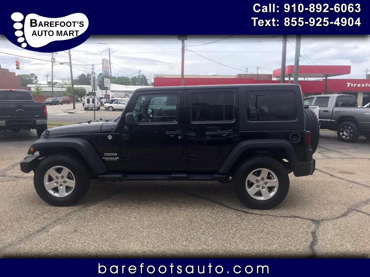 Jeep Wrangler Unlimited 4WD 4dr Sport 2013