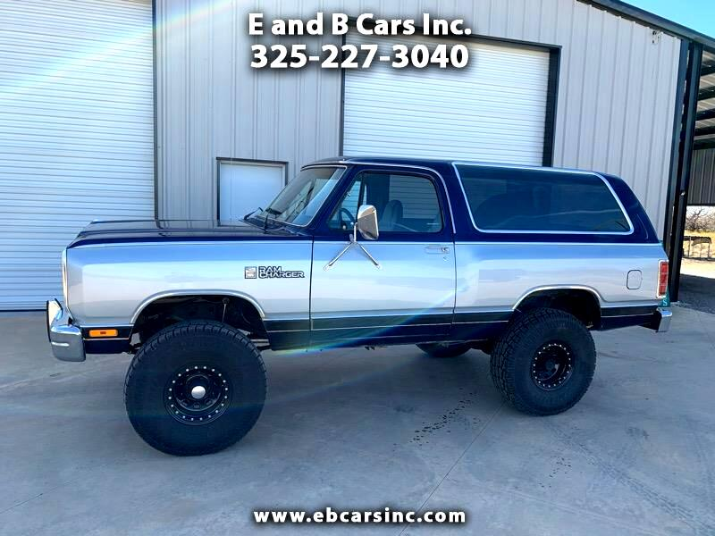 Dodge Ramcharger 150 4WD 1987