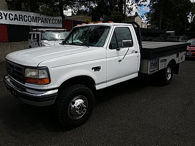 1996 Ford F-350 XL 4WD FLAT BED 7.3 LITER DIESEL!!