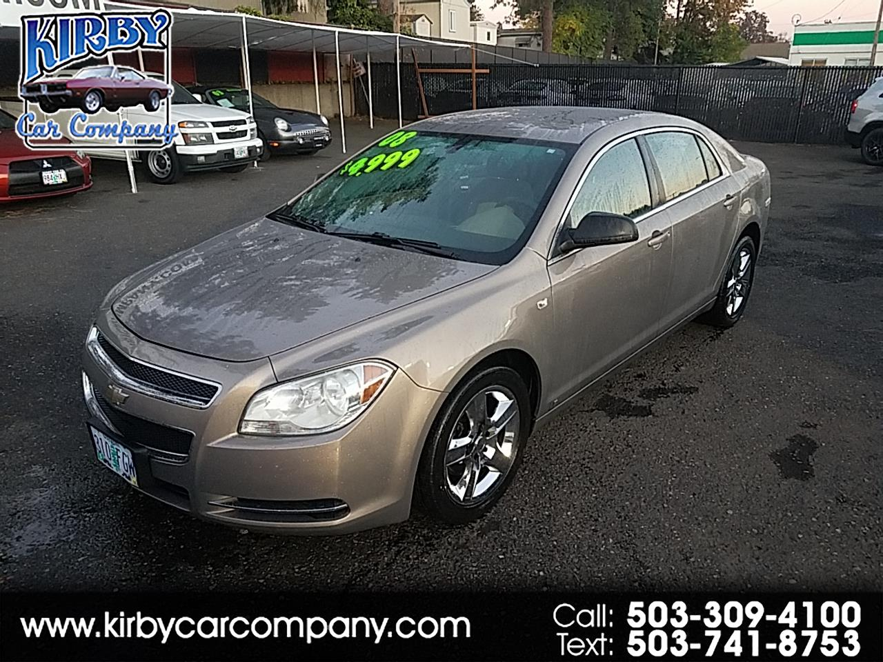 2008 Chevrolet Malibu SEDAN  CLEAN TITLE & CARFAX!!  30 MILES PER GALLON