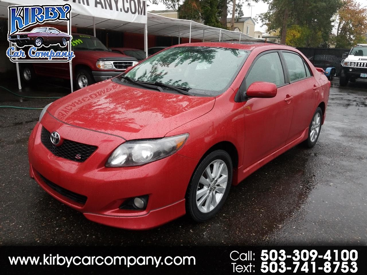 2010 Toyota Corolla S 4-Speed Auto 99K ORIG!! ONE OWNER!! 35MPG!!