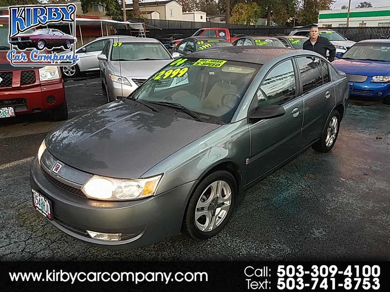 2004 Saturn ION 3 4Dr  5-Spd Manual  MAG WHEELS!  CLEAN TITLE!