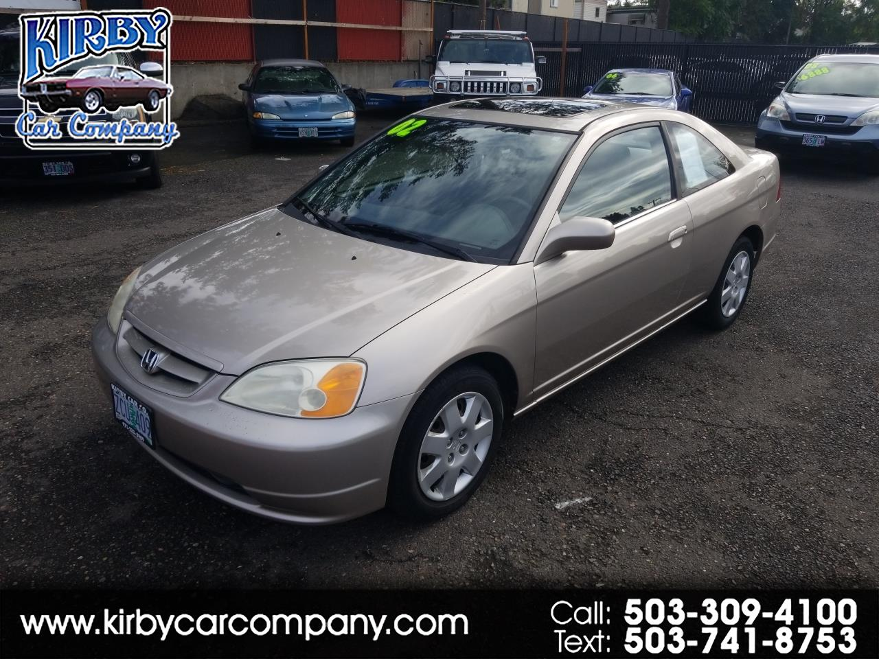 2002 Honda Civic EX Coupe  Auto!  Moon Roof!  Clean Title!  35mpg!