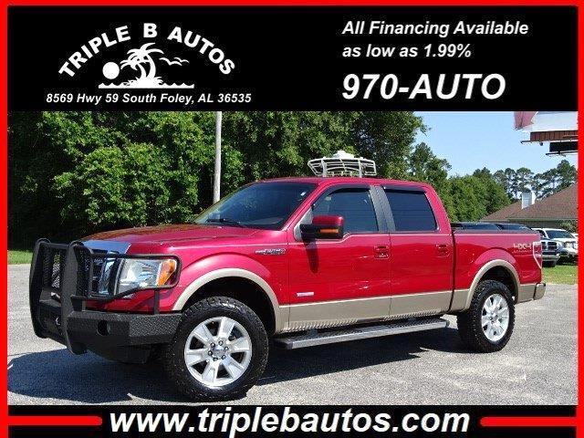 "2011 Ford F-150 SuperCrew Crew Cab 139"" Lariat 4WD"