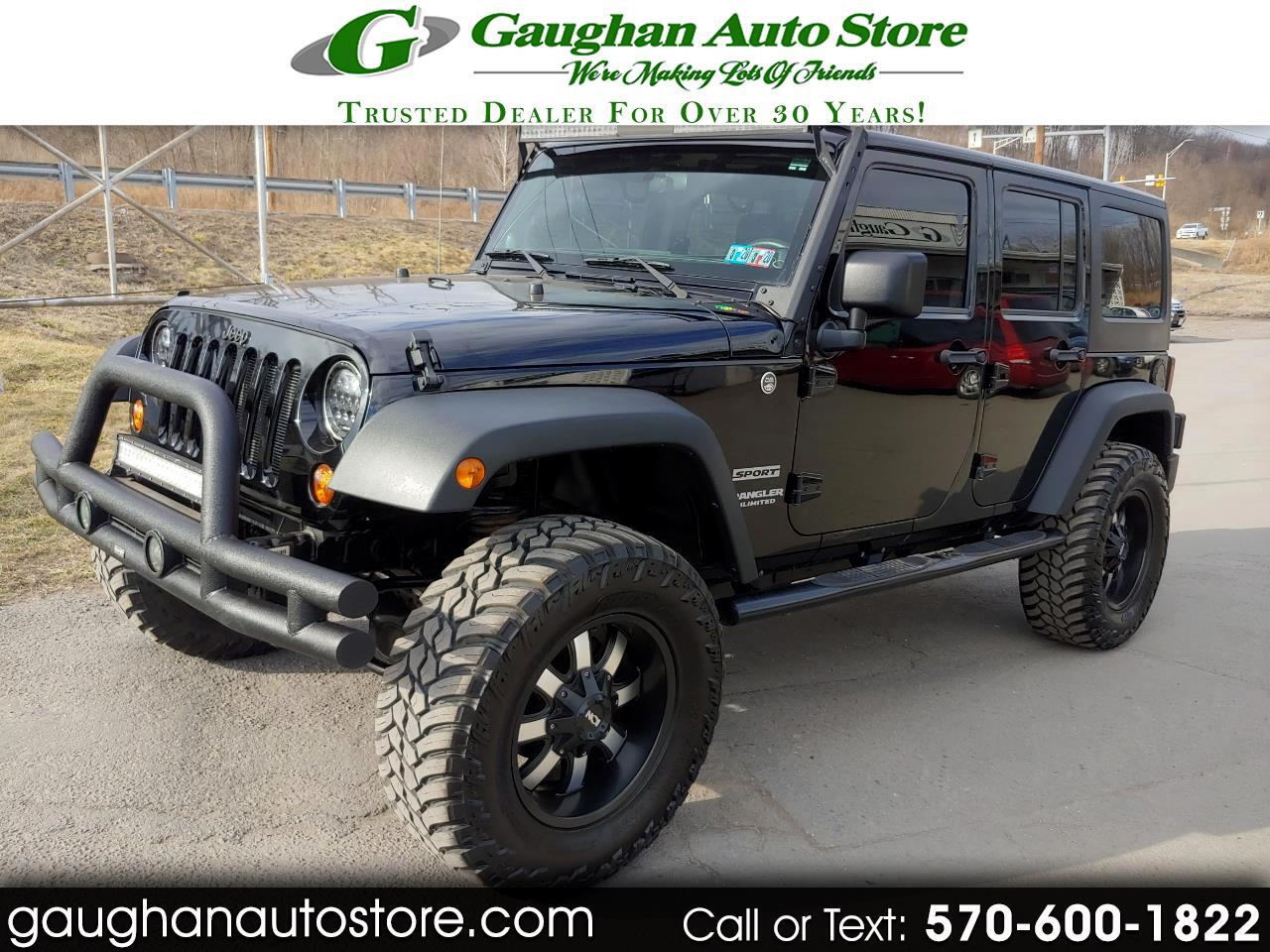 2011 Jeep Wrangler Unlimited 4WD 4 DR SPORT NEW TIRES AND WHEELS  LIFT KIT