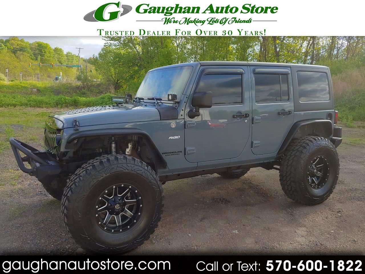 "2014 Jeep Wrangler Unlimited 4WD SAHARA LIFTED/40"" TIRES LOTS OF XTRAS"