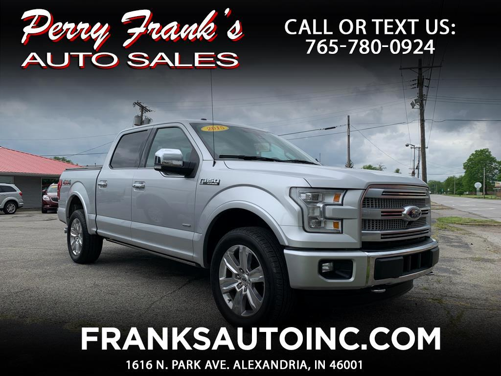 2015 Ford F-150 Platinum 4x4 Short Bed